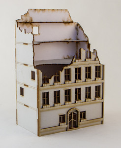 15mm Damaged European Building (Matboard) - 15MCSS100-D