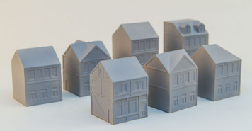 6mm Town Starter Kit (7 Buildings) - 285MEV110
