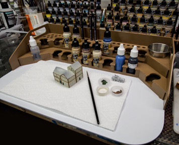 Painting Station - 26mm, For Vallejo Style Dropper Bottles