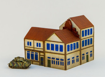 6mm Town Building, Corner - 285MEV111