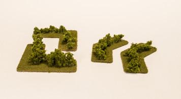 Hedge Row Corners (4 pcs) - 285HED003