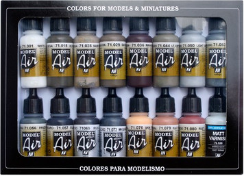 Model Air: Weathering Set (16) (17 ml)