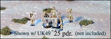 WWII UK Individual Artillery Crewmen - Tropical - UK69
