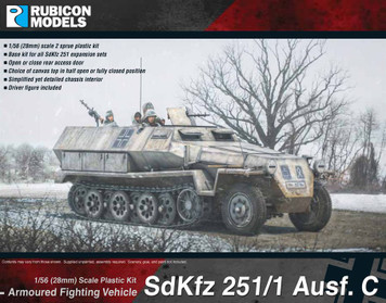 SdKfz 251/1 Ausf C (aka 251C) (1:56th scale / 28mm)