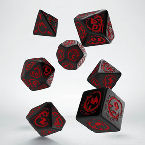 Dragons Dice Set Black/Red (7)