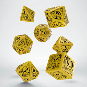 Steampunk Dice Set Yellow/Black (7)