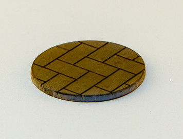 """25mm (1"""") Bolt Action Small Bases (Herringbone) - 1/16"""" Clear Acrylic"""