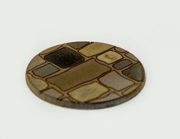 """25mm (1"""") Bolt Action Small Bases (Random Stone) - 1/16"""" Clear Acrylic"""