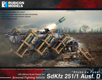 Rubicon Models - German WW2 SdKfz 251/1 Ausf D Stuka zu Fuss