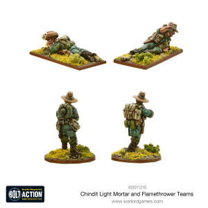 Bolt Action: Chindit Flamethrower & Light mortar teams