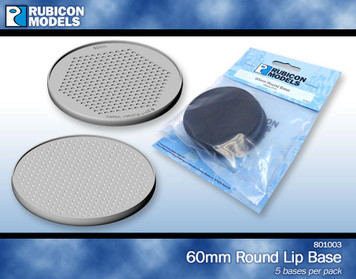 60mm Round Bases - 5/pk