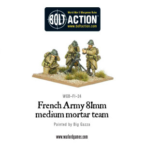 Bolt Action: French Army 81mm medium mortar team