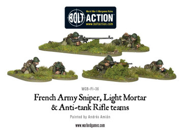 Bolt Action: French Army Sniper, Light Mortar and Anti-tank Rifle teams