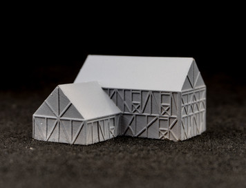 "Two story ""L"" shaped country home (Resin) - 285MEV116"