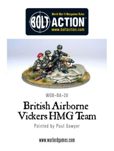 Bolt Action: British Airborne Vickers HMG & Crew