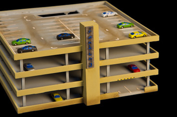 1/285th Scale Parking Structure, Top Floor (Acrylic) - 285ACR031-3
