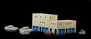 Large Corner Building - 285MEV021 (Resin)