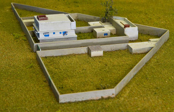 Osama Bin Laden's Pakistan Complex  (Resin) - 285MEVOBL