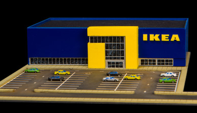 1 285th scale ikea store 285mcb002 gamecraft miniatures. Black Bedroom Furniture Sets. Home Design Ideas