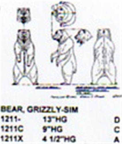 Grizzly Bear Standing Hind Legs 4 1 2 Quot High Carving Pattern