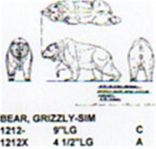 Grizzly bear walking quot long carving pattern
