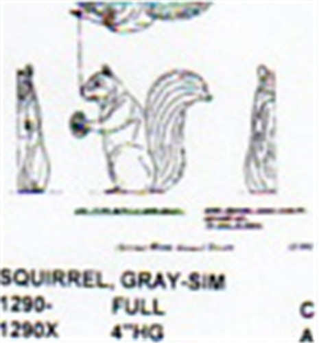 Gray squirrel setting up quot high carving pattern