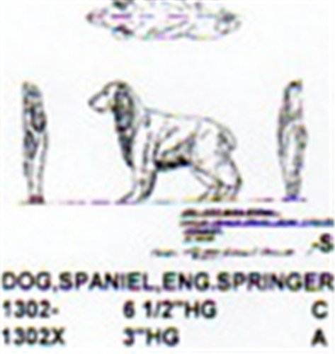 English Springer Spaniel Standing 3 Quot High Carving Pattern