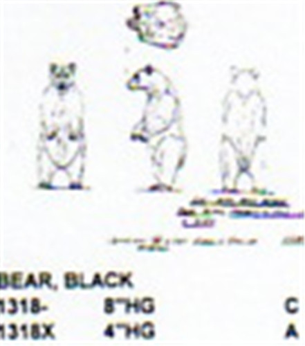Black Bear Standing Hind Legs 8 Quot Long Carving Pattern