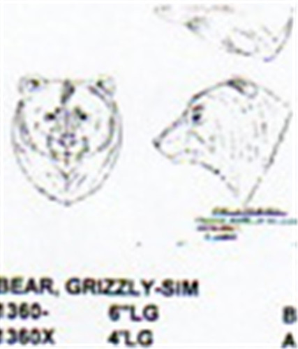 Grizzly bear head only quot long carving pattern