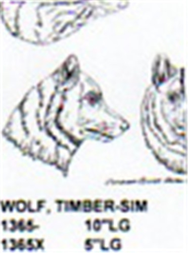 Timber Wolf Head Only 5 Quot Long Carving Pattern