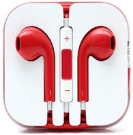 Earphone Earbud Headset Headphone Lot 10x pcs. Red Color/Barcode.