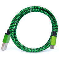 Micro USB Cable 1 Meter (3 Feet) 1x Cable Green/Black