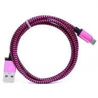 of Micro USB Cable 1 Meter (3 Feet) 1x Cable Purple/Black