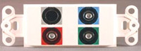 Component video and S-Video Designer Style wall plate, Powerbridge CVSV