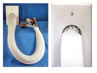 Cable Sock Wall Plates, Ivory