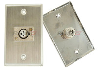 XLR female steel Wall plate