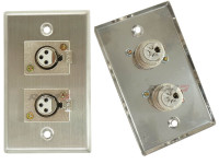 Dual XLR female jack Wall plate