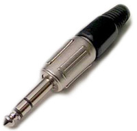 "1/4"" Pro Style Stereo plug with strain relief"