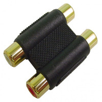 Dual female RCA to Dual female RCA jack adapter, gold plated