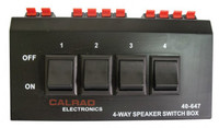 Four Position Stereo Speaker switcher with Push terminals. Calrad 40-647