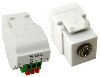 3.5mm Stereo or IR Jack Keystone Insert with 3 Position Spring Terminals