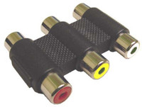 Triple RCA Coupler for Audio/Video