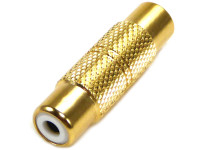 RCA female to RCA female coupler gold plated