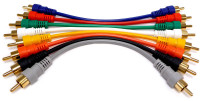 RCA patch cable kit, 6 inches long, 8 cables per package