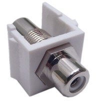 RCA connector Keystone Insert, white