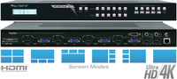 Key Digital KD-MLV4x2 4x2 2K/4K MultiView Seamless Matrix Switcher and Scaler with Audio de-embedding