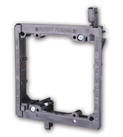 PVC Low Voltage Mounting Brackets- Dual gang