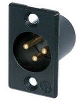 XLR 3-pin Male Chasis mount connector