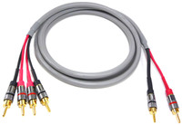 Bi-wire Canare 4S11 Speaker Cable with Gold locking Banana Plugs