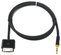 iPro2 30-pin Apple Docking to Stereo Mini Plug Cable